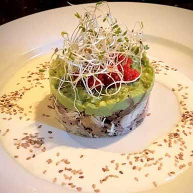 Voorgerecht of tussengerecht: Krabtaartje met avocado
