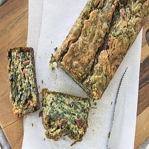 Cake au chèvre et épinards
