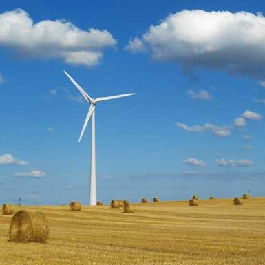 Éoliennes in de Dordogne